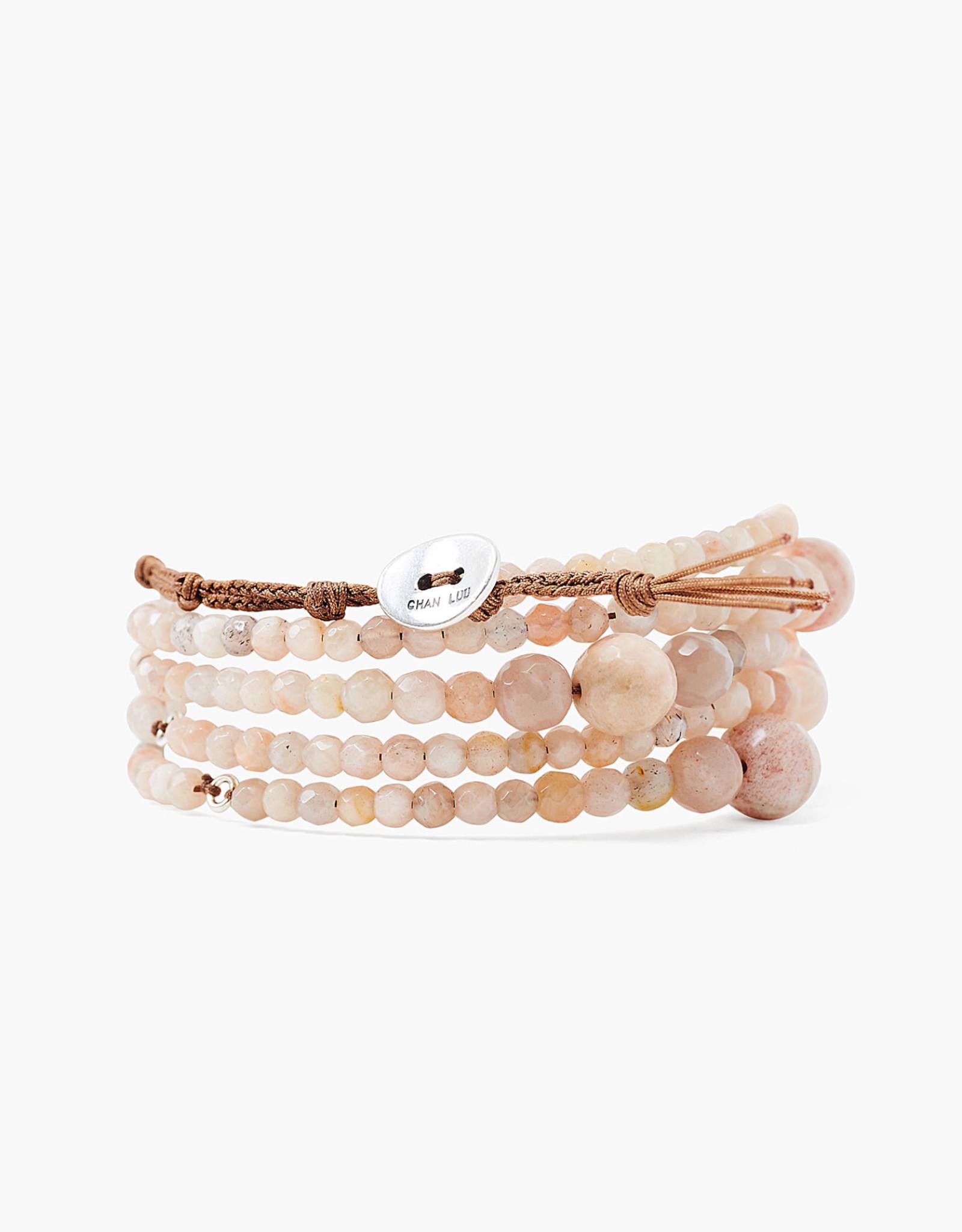 Chan Luu Graduated Sunstone Wrap Bracelet