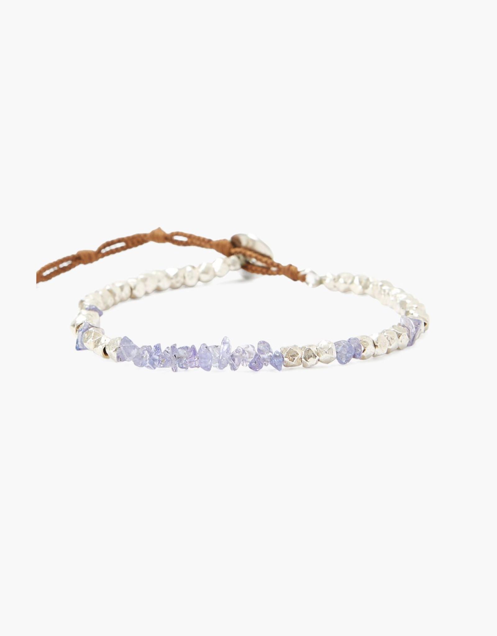 Chan Luu Single Strand Sterling/Tanzanite Bracelet