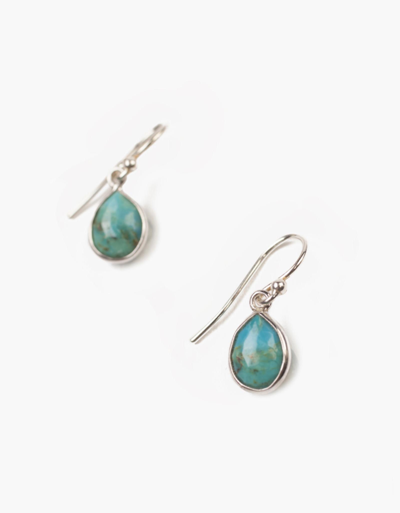 Chan Luu Turquoise Drop Earrings (Sterling)