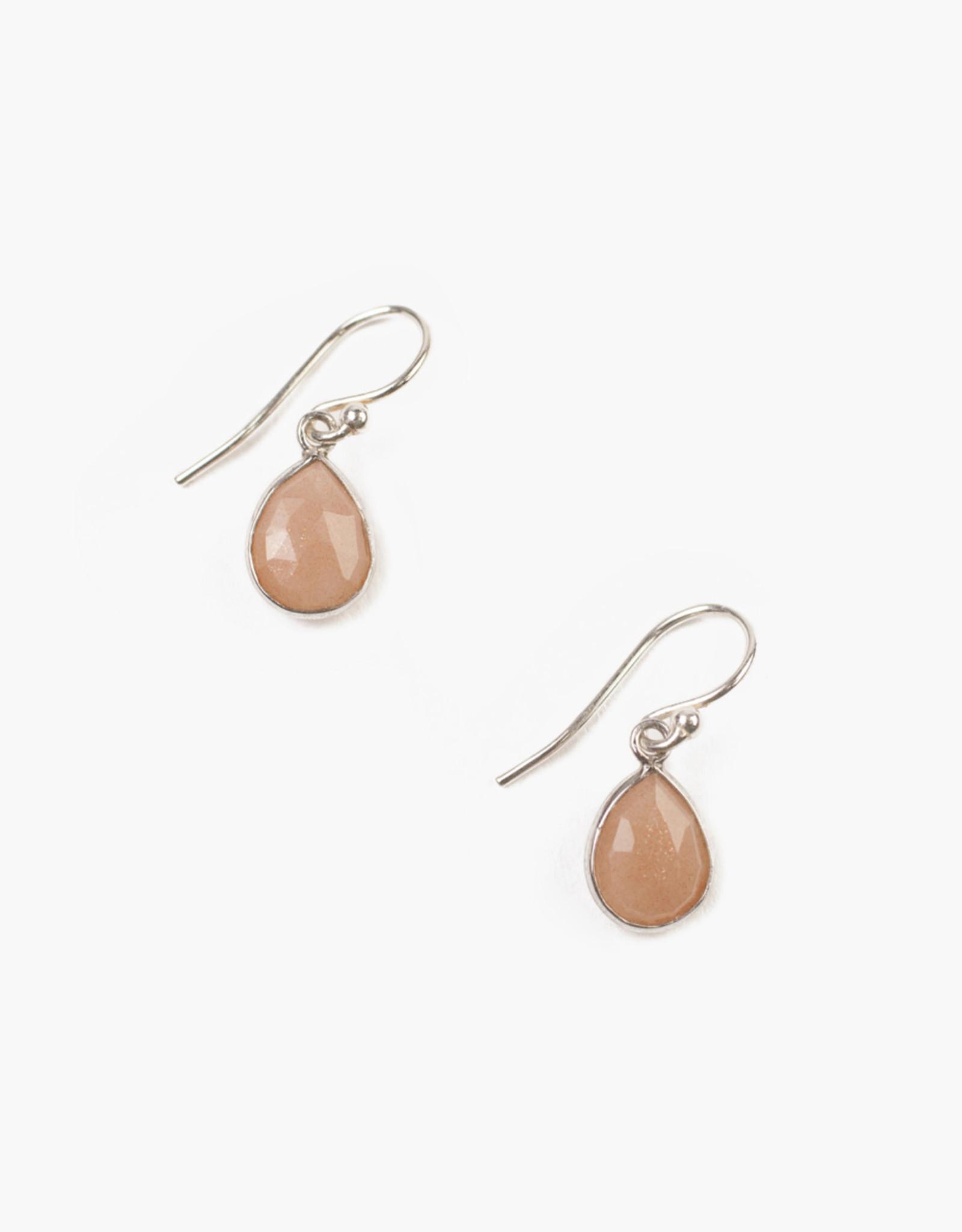 Chan Luu Pink Moonstone Drop Earrings