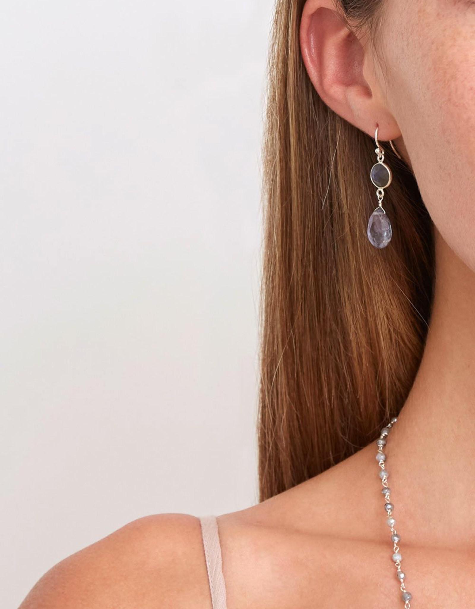 Chan Luu Labradorite Mix Drop Earrings