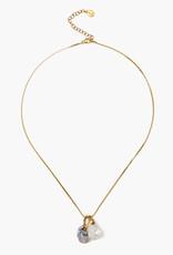 Chan Luu White Pearl Mix Pendant Necklace