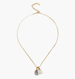 Chan Luu White Pearl Mix Pendant Necklace