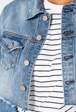 NOEND Trace Crop Denim Jacket in Tomboy
