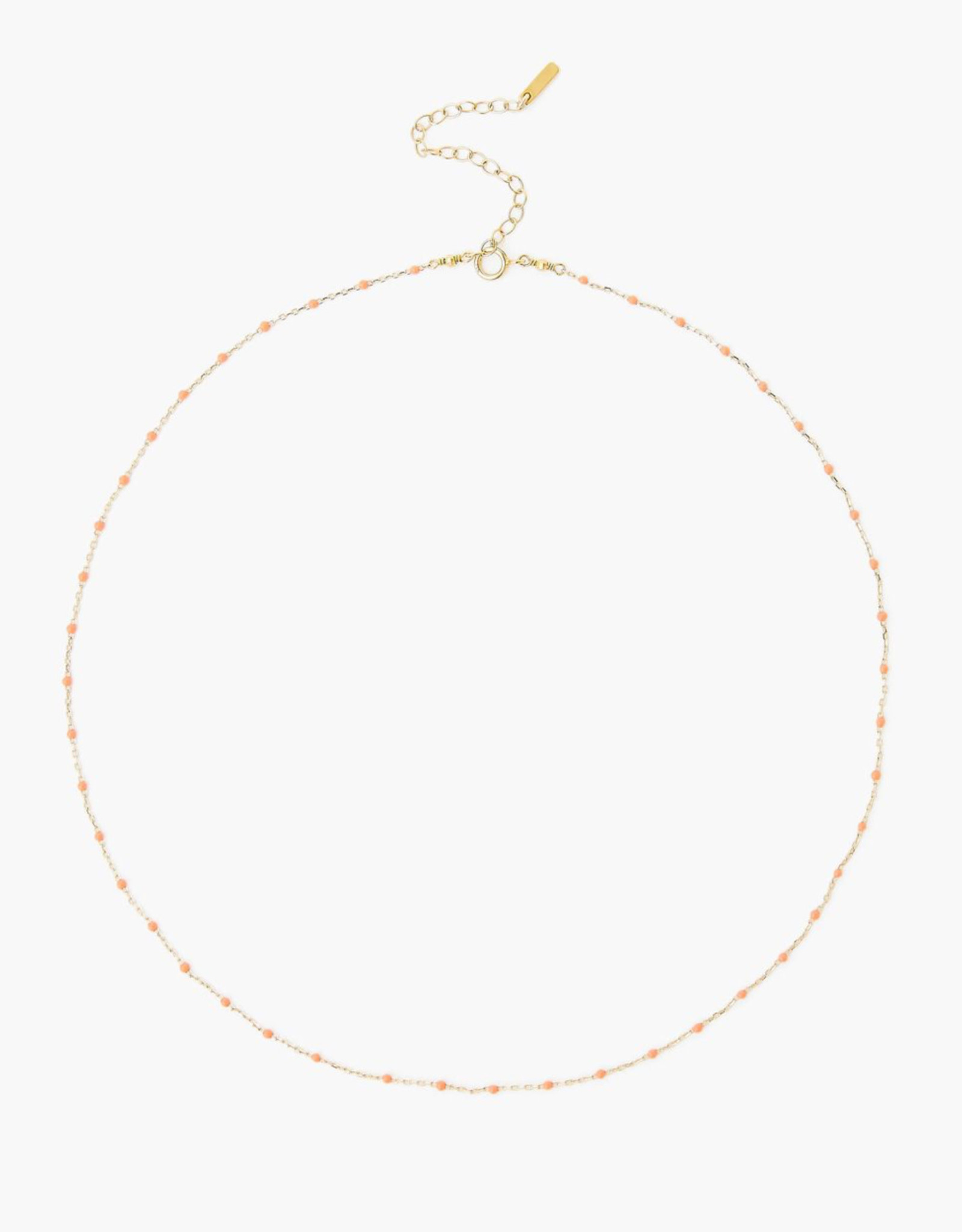 Chan Luu Plated Chain Necklace (Peach Accents)