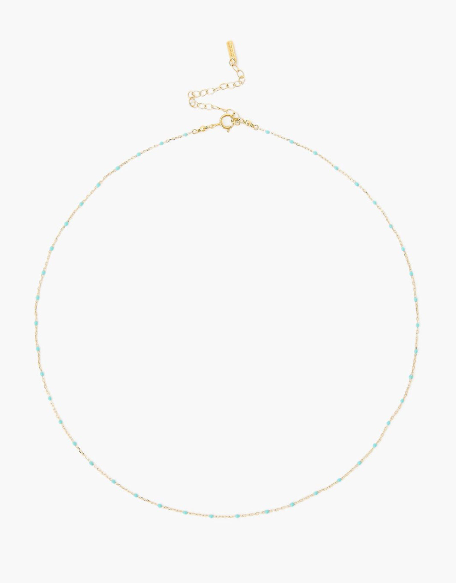 Chan Luu Plated Chain Necklace (Turquoise)