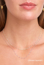 Chan Luu Plated Chain Necklace (White Accents)