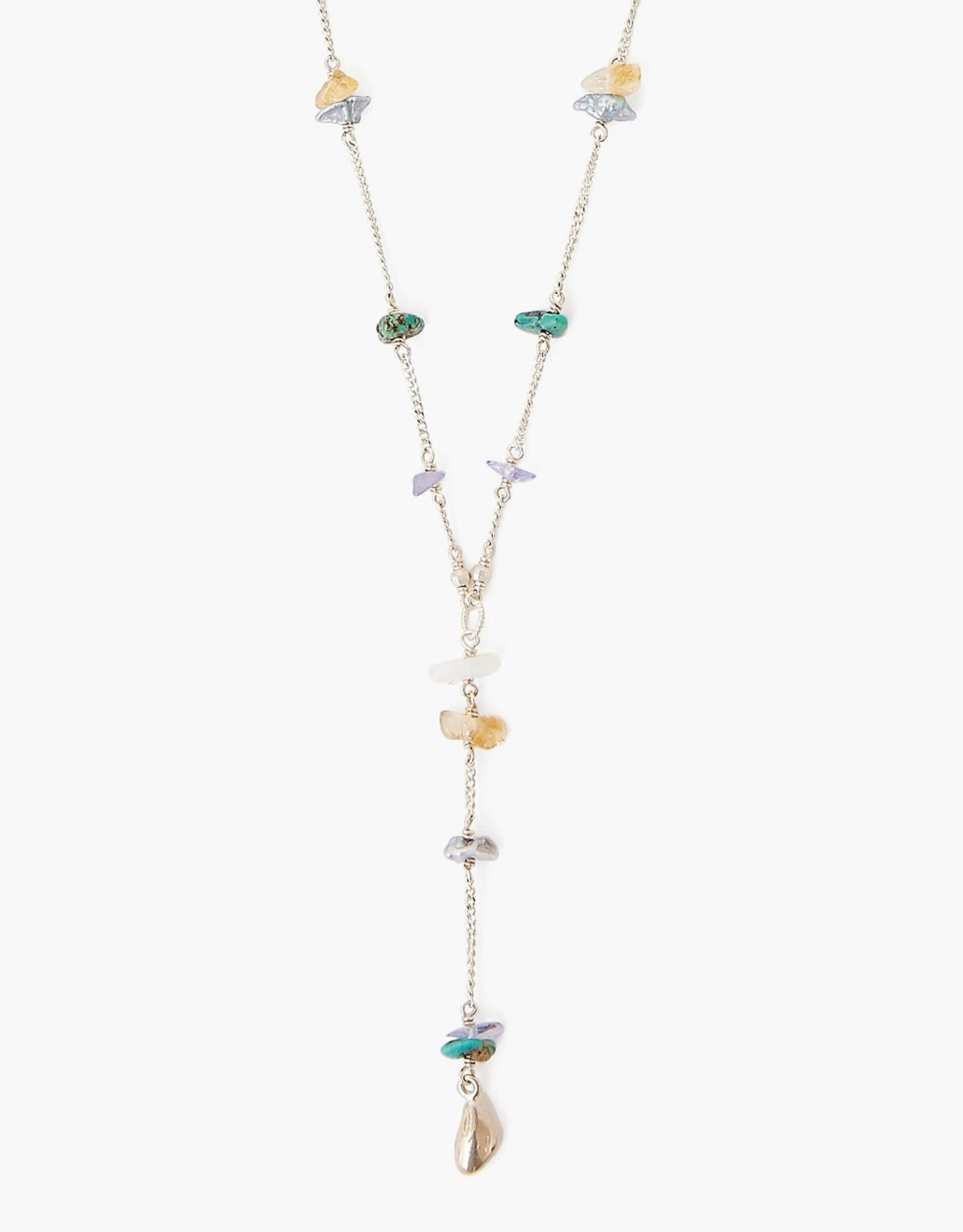 Chan Luu Sterling Silver & Turquoise Mix Necklace