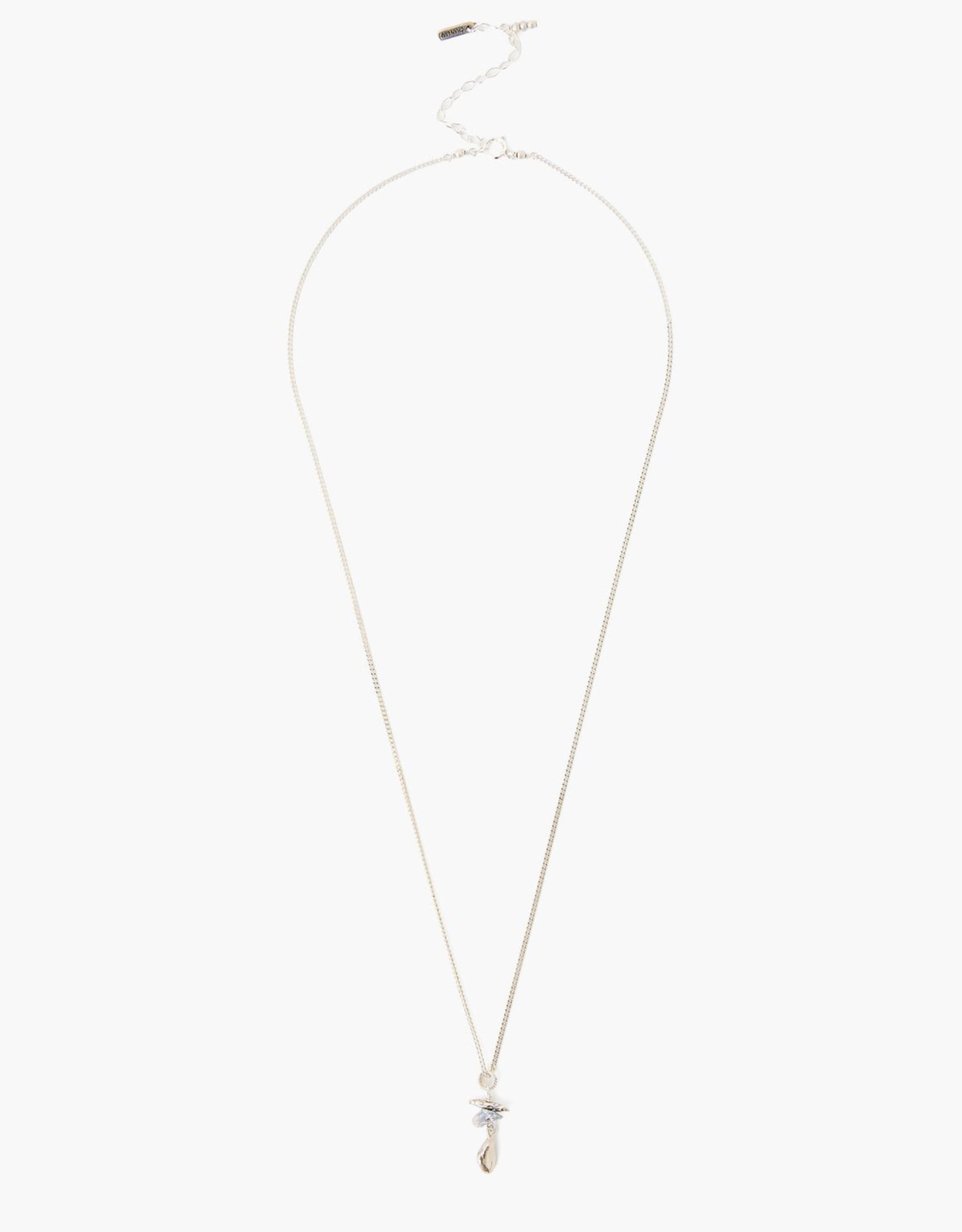 Chan Luu Sterling Silver Necklace with Petite Grey Pearls