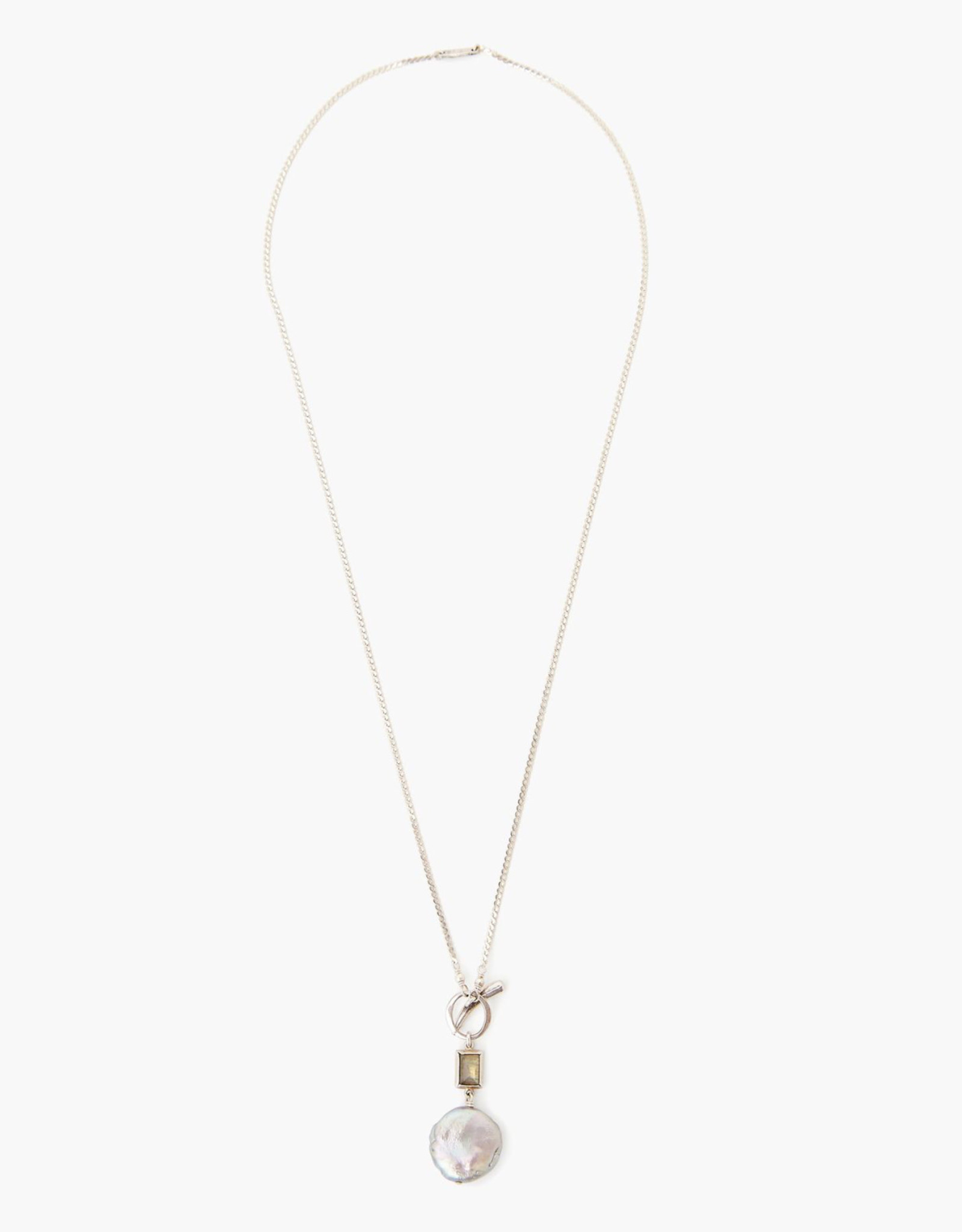 Chan Luu Pearl Pendant with Labradorite Accent Necklace