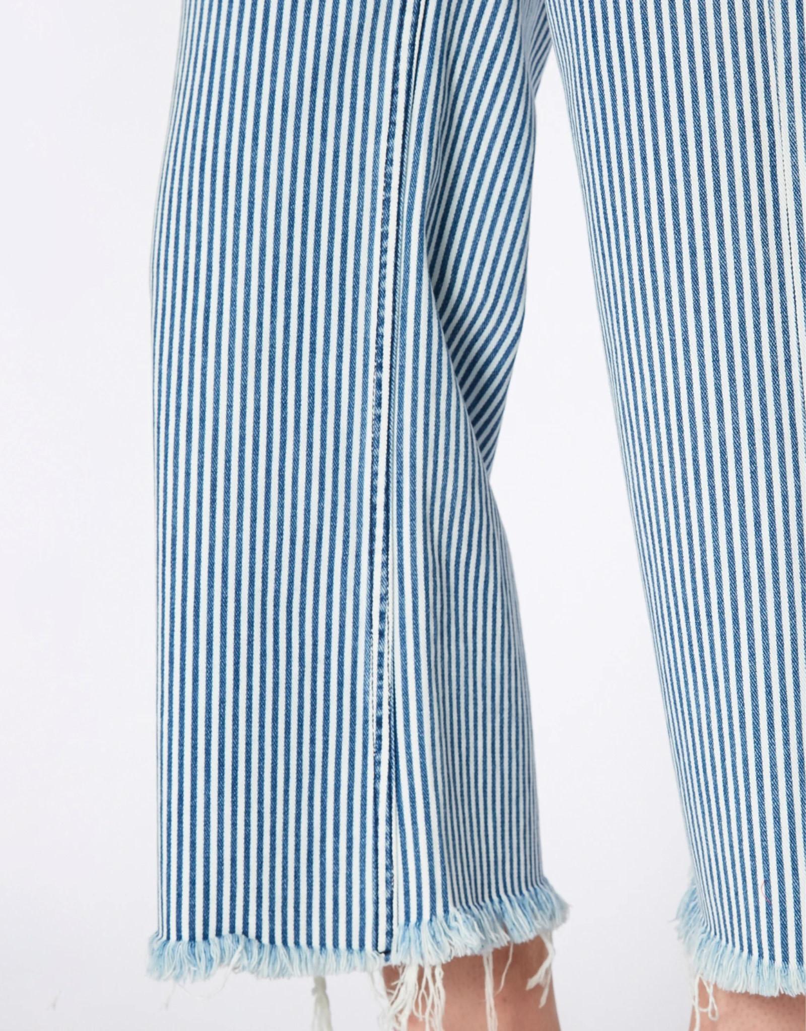 NOEND Hailey Culotte Jeans in Luce Stripe