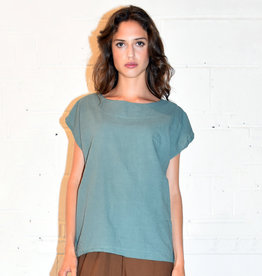Uzi NYC Teal Tunic Top (O/S)