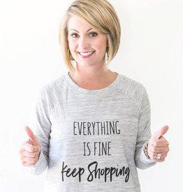 Mary Square Keep Shopping Sweatshirt