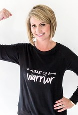 Mary Square Heart of a Warrior Sweatshirt