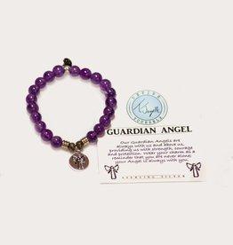 T Jazelle Amethyst Guardian Angel Bracelet