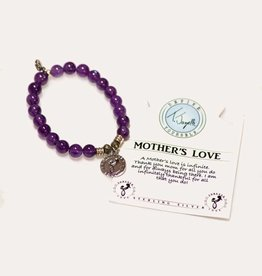 T Jazelle Amethyst Mother's Love Bracelet