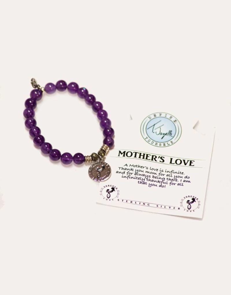 T Jazelle Amethyst Mother's Love Bracelet