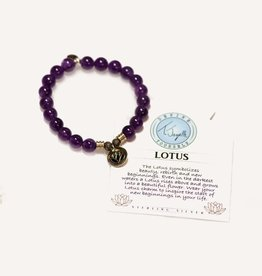 T Jazelle Amethyst Lotus Bracelet