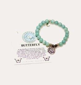 T Jazelle Apatite Butterfly Bracelet