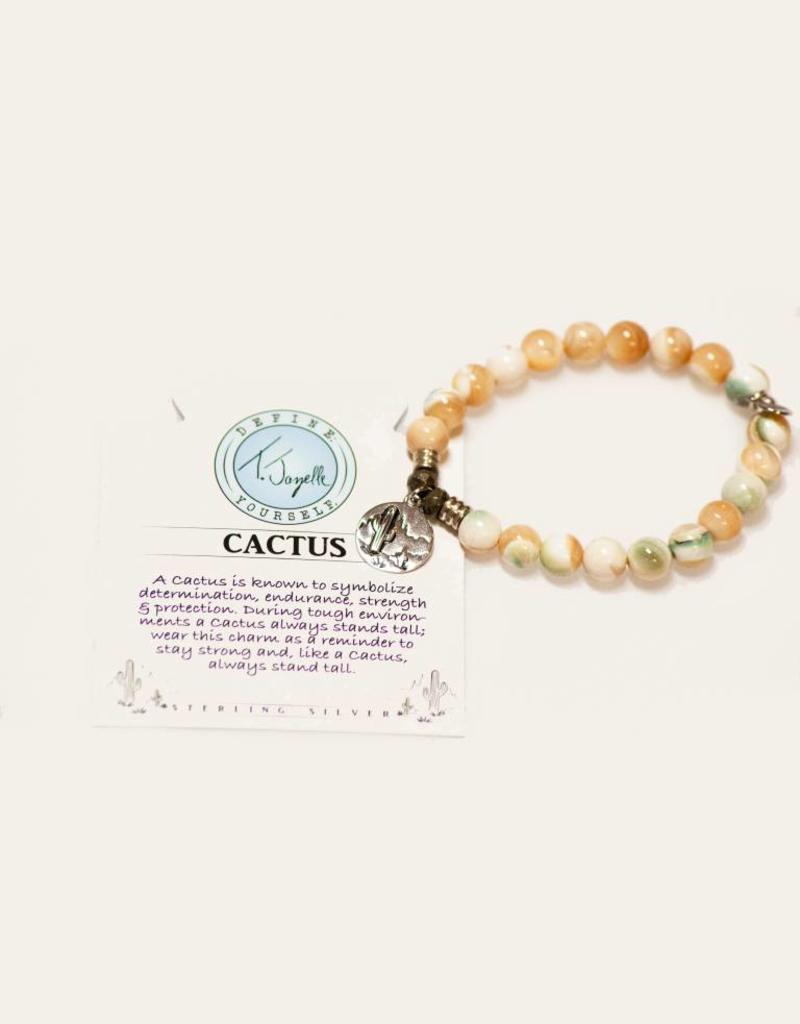 T Jazelle Pearl Shell Cactus Bracelet