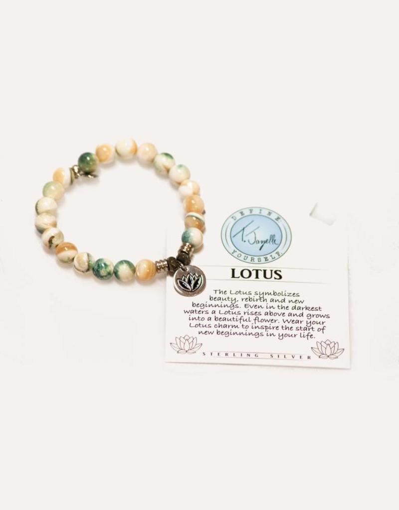 T Jazelle Pearl Shell Lotus Bracelet