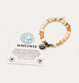 T Jazelle Pearl Shell Sunflower Bracelet