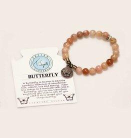 T Jazelle Pink Opal Butterfly Bracelet