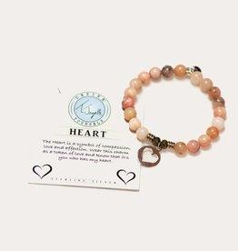 T Jazelle Pink Opal Heart Bracelet