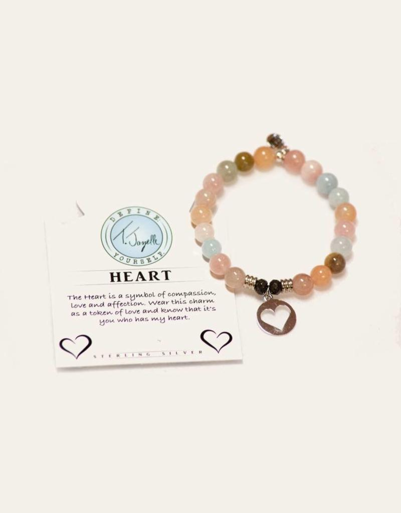 T Jazelle Morganite Heart Bracelet