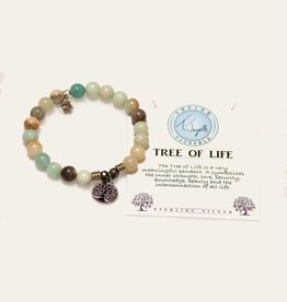 T Jazelle Amazonite Tree of Life Bracelet