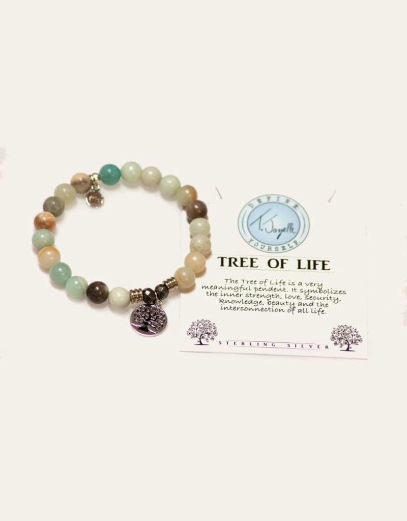 T Jazelle Amazonite Tree of Life Bracelet