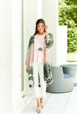 Mudpie Johanna Tie Dye Kimono -Olive