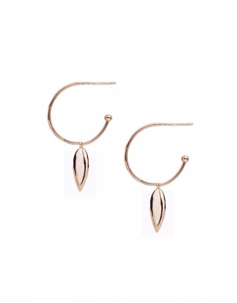 Natalie Wood Designs Choose Happy Mini Hoop Earrings - Rose Gold