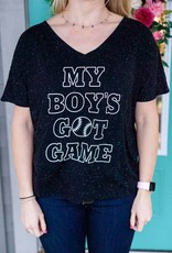 Things She Loves Boy's Got Game Tee