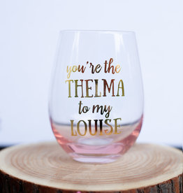 Mary Square Thelma & Louise Wine Glass
