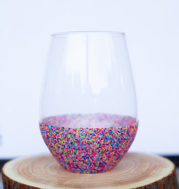 slant collection 30oz Beaded Stemless Wine