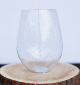 slant collection 30oz Silver Glitter Wine Glass