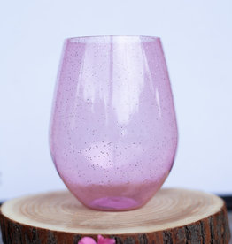 slant collection 30oz Pink Glitter Wine Glass