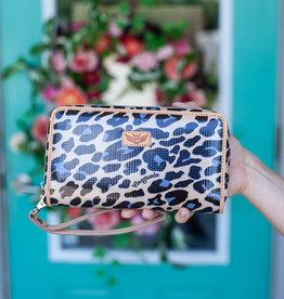 Consuela Blue Jag Wristlet Wallet
