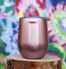corkcicle 12oz Stemless - Rose Metallic