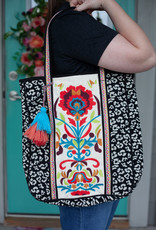 Embroidered Leopard Tote