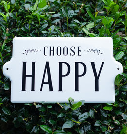 Creative Co Op Choose Happy Metal Sign