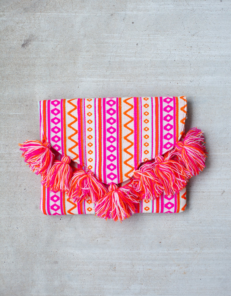 Mudpie Tassel Envelope Clutch