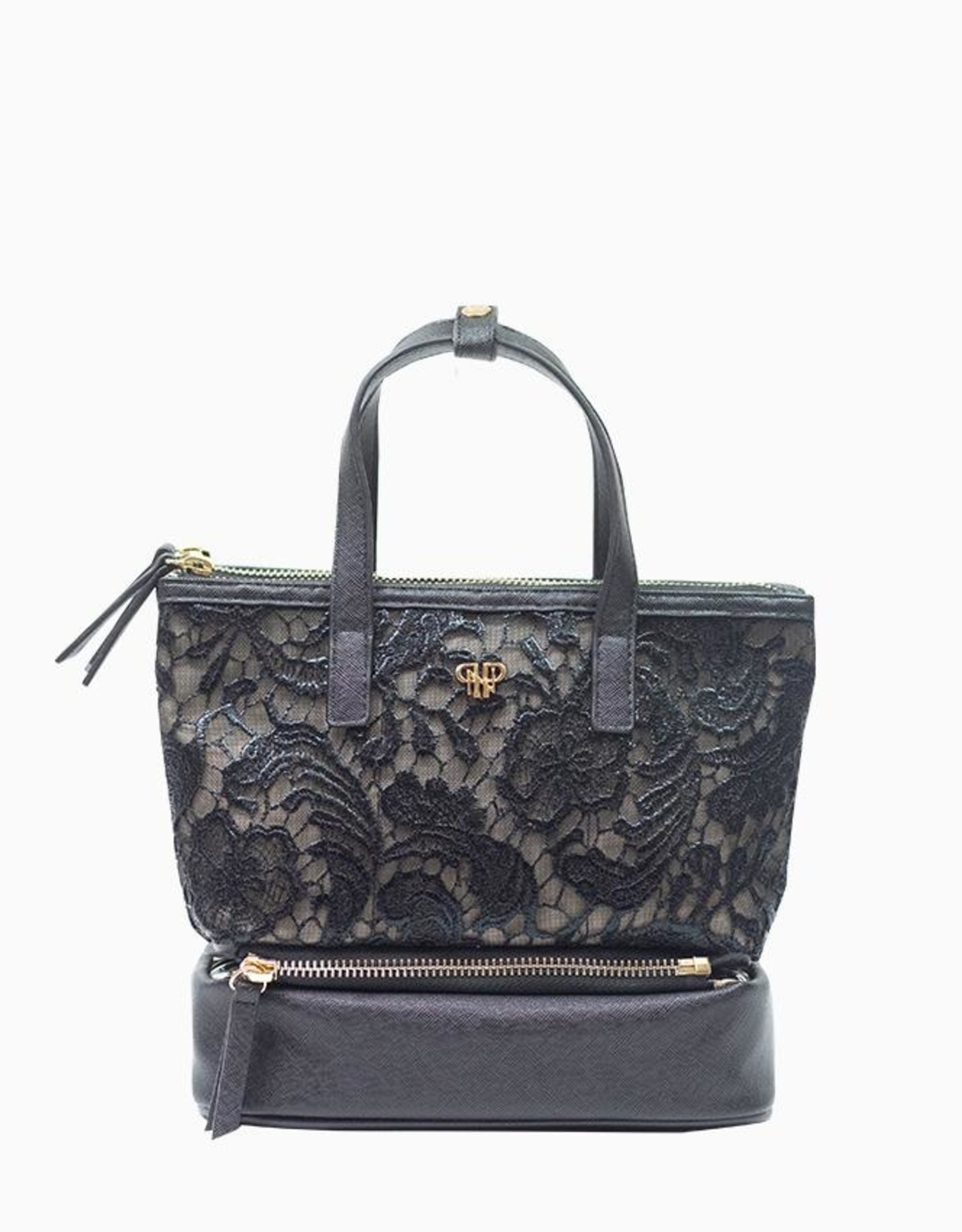 purseN Adira Makeup Case - Black Lace