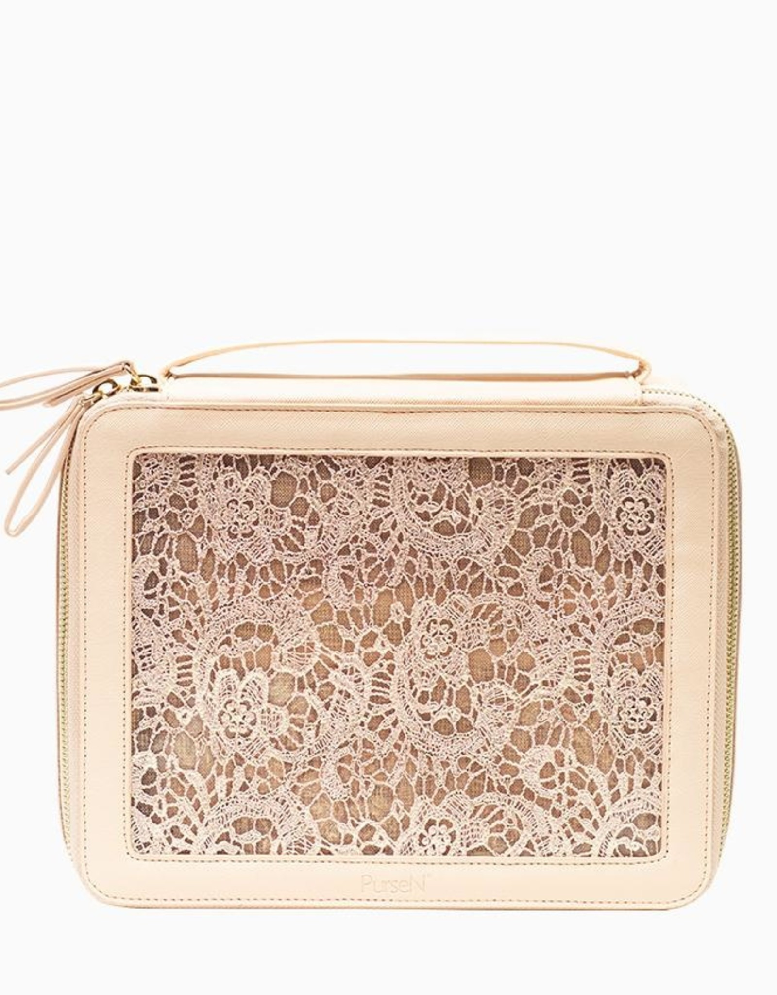 purseN Ava Travel Case - Blush Lace