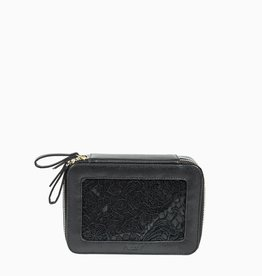 purseN Voyager Jewelry Case - Black Lace