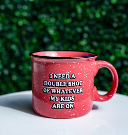 3 happy holigans Double Shot Fleck Mug