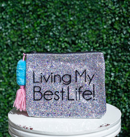 3 happy holigans Best Life Glitter Bag