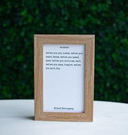 Petal Lane Wisdom Ernest Hemingway Board