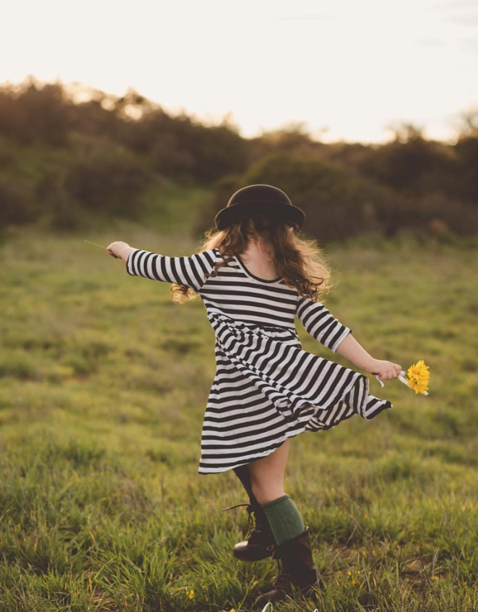Mila & Rose B&W Stripe Twirl Dress